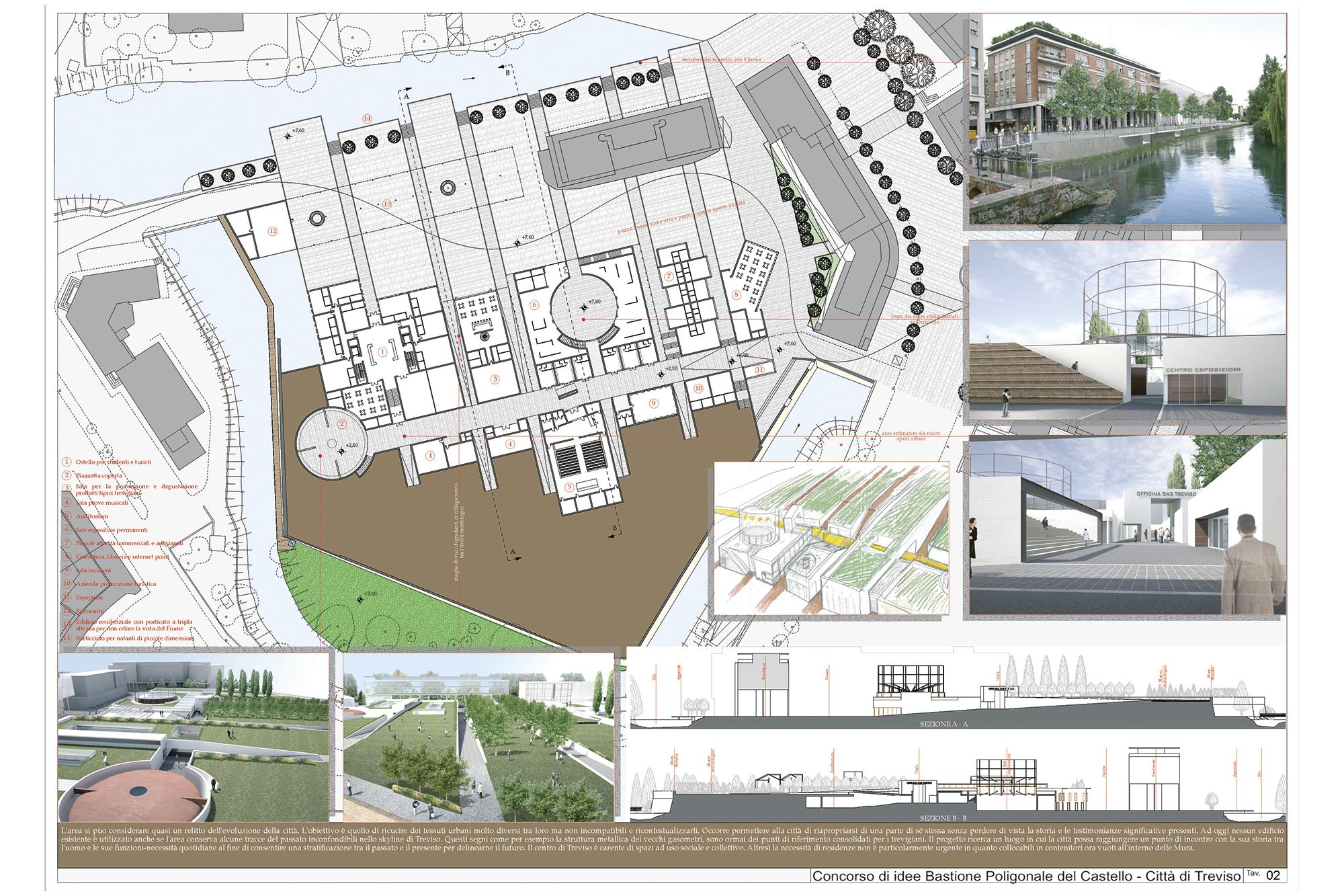 Concorso di idee bastione poligonale del castello citta for Idee del piano di progetto